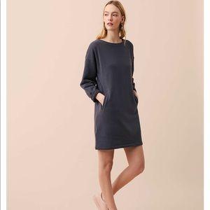 Lou & Grey Pocket Sweatshirt Dress in gray